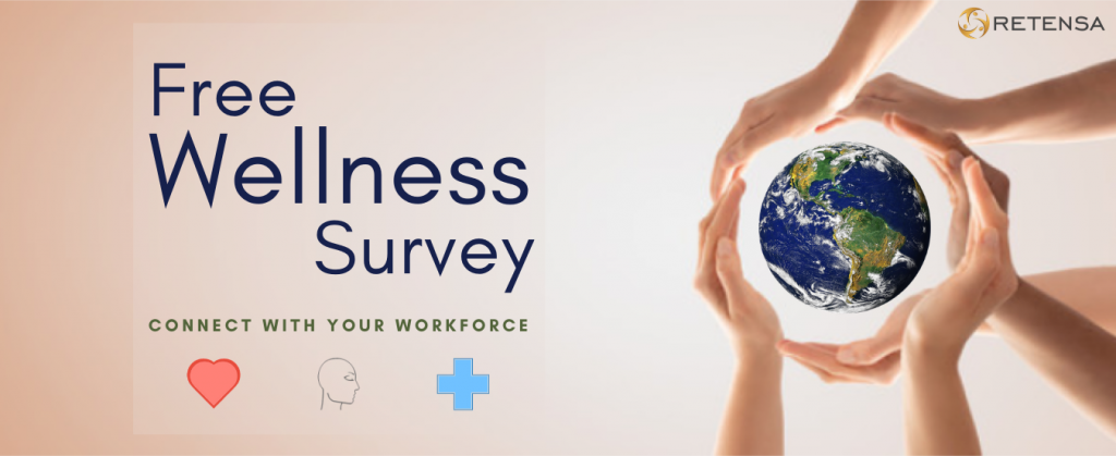 Employee Wellness Survey - Free from Retensa. Get staff mental health insights in minutes. Capture company wellness now.